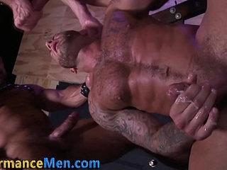 Macho bear guzzles jizz
