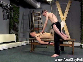 Free gay domination young old Aaron use to be a gimp fellow himself,