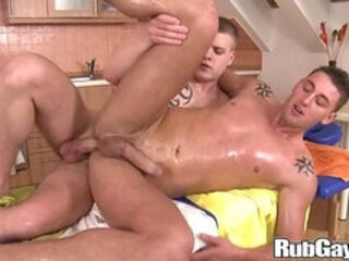 Brutal Anal Rubbing on Rubgay
