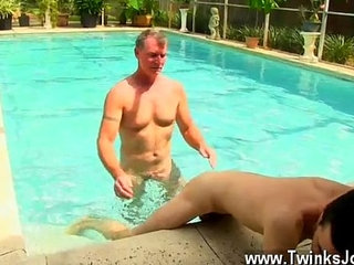 Naked men Daddy Brett obliges of course, after sharing some oral and