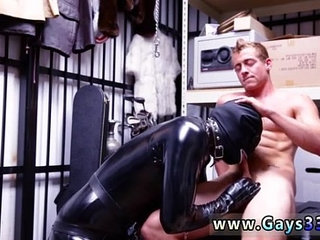 Sex a young boy Dungeon master with a gimp