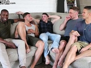 Hottest Young Guys! Gay Some ORGY! All These Young STUDS So Eager To FUCK Each Other!