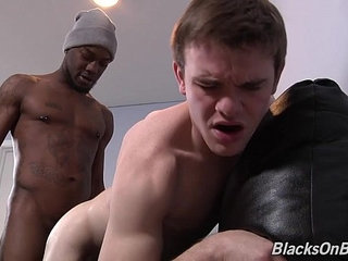Justin Cross Gets His First Taste Of Black Cock