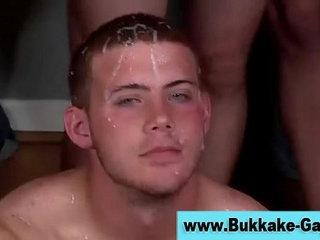 Horny interracial gay orgy gets hot