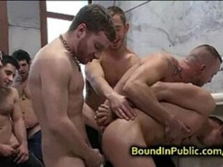 Straight stud getting fucked in public restroom