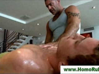 Straight guy gay masseuse seduction