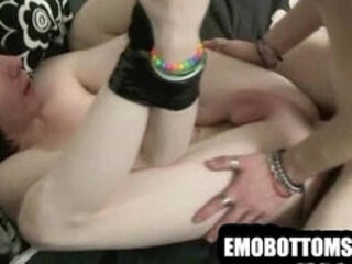 These two sexy emo twinks are having hot anal sex