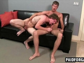 Straight guy sucking on a dick for some money