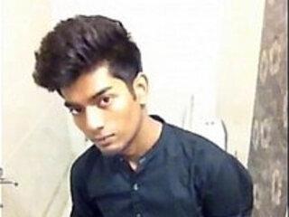 Indian Teen Jerks In Bathroom