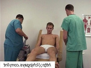Doctors and hot naked patient