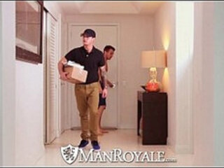 HD ManRoyale New fuck toy is tested by the delivery guy