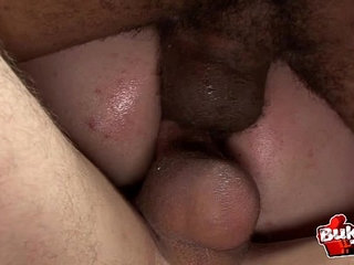 DOUBLE ANAL fucked twink covered in semen