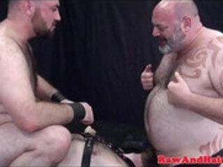 Raw chubby bears threesome