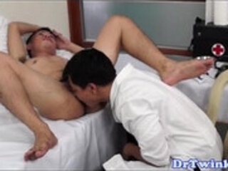 Asian doctor rimming twink patients ass