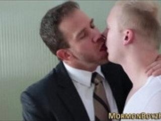 Mormon gobbles hard long big cock