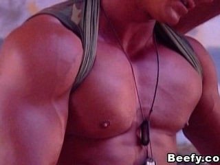 Beefy Fuck of Two Hot and Muscular Military