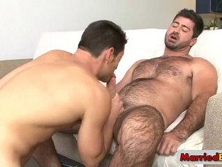 Hot gay stud fucking sucking hairy guy by marriedbf