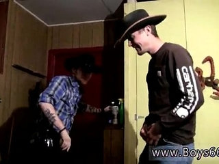 Sexy gay Cowboys Ty Lee Pissing Up the Garage!