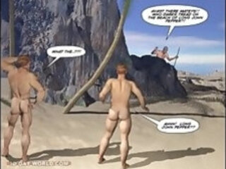 New Adventures of Cabin Boy 3D Gay Cartoon Animated Comics or Gay Hentai Toons